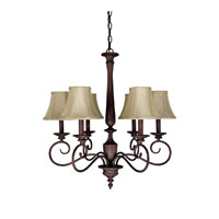 Capital Lighting Hammond 6 Light Chandelier in Mediterranean Bronze 3146MZ-423