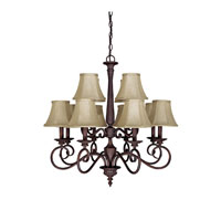 Capital Lighting Hammond 12 Light Chandelier in Mediterranean Bronze 3147MZ-423