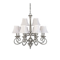 Capital Lighting Hammond 12 Light Chandelier in Matte Nickel 3147MN-426