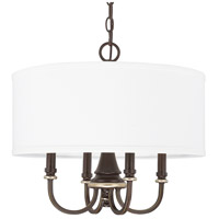 Asher 4 Light 19 inch Champagne Bronze Pendant Ceiling Light