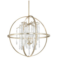 Capital Lighting Carrington 4 Light Pendant in Winter Gold with Clear Crystals 3184WG-CR
