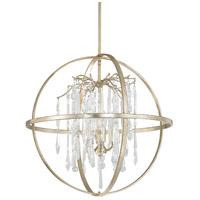 Capital Lighting 3184WG-CR Carrington 4 Light 25 inch Winter Gold Pendant Ceiling Light