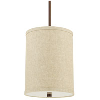 Midtown 4 Light 9 inch Burnished Bronze Pendant Ceiling Light in Light Tan Fabric Shade
