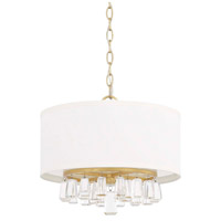 Milan 4 Light 15 inch Capital Gold Pendant Ceiling Light