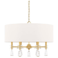 Milan 6 Light 24 inch Capital Gold Pendant Ceiling Light