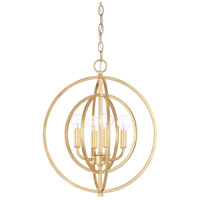 Signature 4 Light 16 inch Capital Gold Pendant Ceiling Light