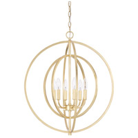 Signature 6 Light 23 inch Capital Gold Pendant Ceiling Light