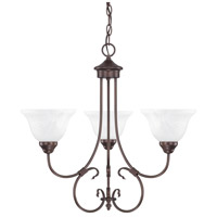 HomePlace 3 Light 24 inch Bronze Chandelier Ceiling Light