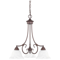 HomePlace 3 Light 22 inch Bronze Chandelier Ceiling Light