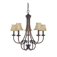 Capital Lighting Hometown 5 Light Chandelier in Burnished Bronze 3225BB-423
