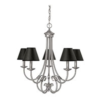 Capital Lighting Hometown 5 Light Chandelier in Matte Nickel 3225MN-427