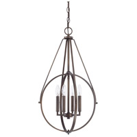 Signature 4 Light 17 inch Burnished Bronze Pendant Ceiling Light