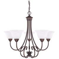 HomePlace 5 Light 29 inch Bronze Chandelier Ceiling Light
