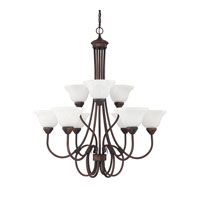 Hometown 9 Light 33 inch Burnished Bronze Chandelier Ceiling Light
