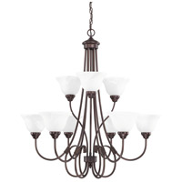 HomePlace 9 Light 34 inch Bronze Chandelier Ceiling Light