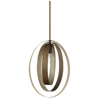 Capital Lighting 324911SZ Dahlia 1 Light 14 inch Silver and Bronze Pendant Ceiling Light