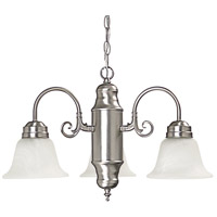 Capital Lighting Signature 3 Light Chandelier in Matte Nickel with Faux White Alabaster Glass 3253MN-118