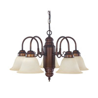 Capital Lighting Signature 5 Light Chandelier in Burnished Bronze with Mist Scavo Glass 3255BB-256