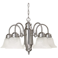 Capital Lighting Signature 5 Light Chandelier in Matte Nickel with Faux White Alabaster Glass 3255MN-118