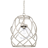 Capital Lighting 325611AS-443 Signature 1 Light 15 inch Antique Silver Pendant Ceiling Light