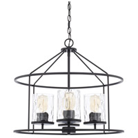 Signature 4 Light 22 inch Matte Black Pendant Ceiling Light