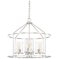 Capital Lighting 325741PN-451 Signature 4 Light 22 inch Polished Nickel Pendant Ceiling Light