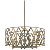 Signature 6 Light 28 inch Aged Metal Pendant Ceiling Light