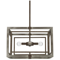 Capital Lighting 325941UG Zac 4 Light 18 inch Urban Grey Pendant Ceiling Light