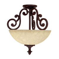 Capital Lighting Mediterranean 2 Light Semi-Flush in Mediterranean Bronze 3262MZ