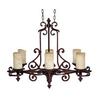 Capital Lighting Mediterranean 6 Light Chandelier in Mediterranean Bronze 3267MZ-125