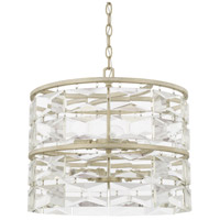 Capital Lighting 327861WW Serena 6 Light 18 inch Winter White Pendant Ceiling Light