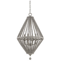 Capital Lighting 328041PG Kima 4 Light 16 inch Paris Grey Pendant Ceiling Light
