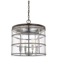 Capital Lighting 329441UG Colby 4 Light 15 inch Urban Grey Pendant Ceiling Light