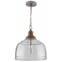 Capital Lighting 330318GY Elijah 1 Light 14 inch Grey Wash Pendant Ceiling Light