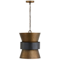Capital Lighting 330416PZ Elijah 1 Light 13 inch Patinaed Brass and Dark Zinc Pendant Ceiling Light