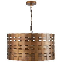 Capital Lighting 330441PA Elijah 4 Light 22 inch Patinaed Brass Pendant Ceiling Light