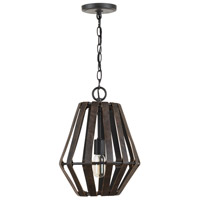 Capital Lighting 330711RI Walker 1 Light 12 inch Rustic Iron Pendant Ceiling Light