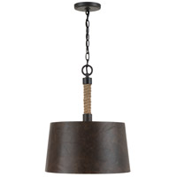 Capital Lighting 330712RI Walker 1 Light 16 inch Rustic Iron Pendant Ceiling Light