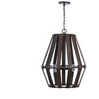 Capital Lighting 330741RI Walker 4 Light 20 inch Rustic Iron Pendant Ceiling Light