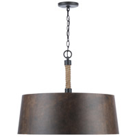 Capital Lighting 330742RI Walker 4 Light 25 inch Rustic Iron Pendant Ceiling Light