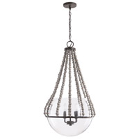 Capital Lighting 331541MI Elijah 4 Light 19 inch Mineral Brown Pendant Ceiling Light