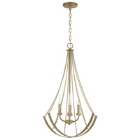 Capital Lighting 331941AP Elijah 4 Light 23 inch Aged Brass Painted Pendant Ceiling Light