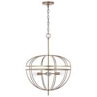 Capital Lighting 332041AD Fontaine 4 Light 20 inch Aged Brass Pendant Ceiling Light