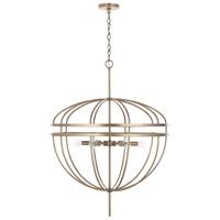 Capital Lighting 332061AD Fontaine 6 Light 29 inch Aged Brass Pendant Ceiling Light