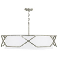 Capital Lighting 332441AS Bryce 4 Light 32 inch Antique Silver Pendant Ceiling Light