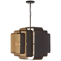 Capital Lighting 332541BD Signature 4 Light 20 inch Bronze and Gold Pendant Ceiling Light