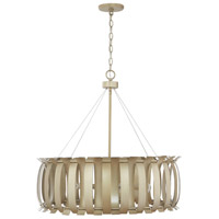 Capital Lighting 332761AP Cayden 6 Light 28 inch Aged Brass Painted Pendant Ceiling Light
