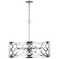 Capital Lighting 332861PN Signature 6 Light 29 inch Polished Nickel Pendant Ceiling Light