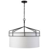 Capital Lighting 333041MB Palmer 4 Light 27 inch Matte Black Pendant Ceiling Light