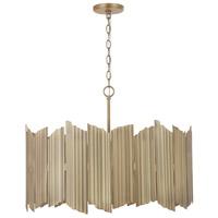 Capital Lighting 333441AD Xavier 4 Light 27 inch Aged Brass Pendant Ceiling Light